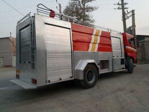 کامیون آتشنشانی بر روی شاسی کاویان