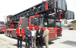 تجهیز آتشنشانی پردیس به نردبان روزنباور