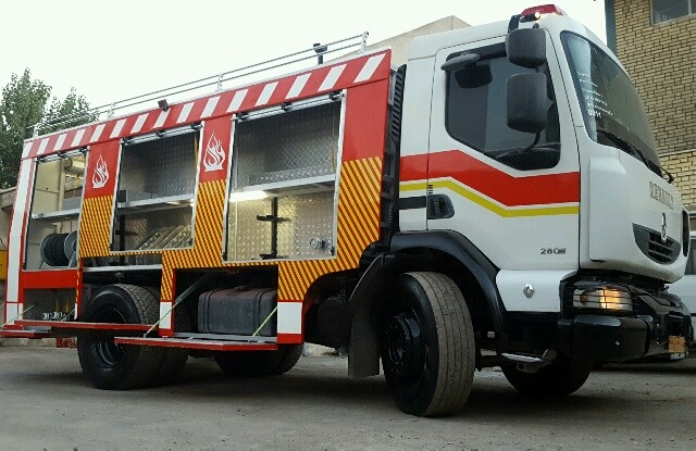 اجاره کامیون آتش نشانی رنو میدلام